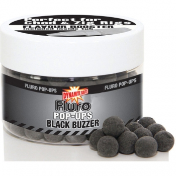 бойлы плав. dynamite baits 20 мм. black buzzer fluro + liquid booster