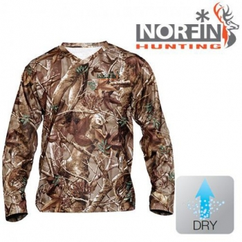 Футболка Norfin HUNTING ALDER LONG SLEEVE PASSION GREEN 01 р.S