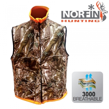 Жилет флис. Norfin HUNTING REVERSABLE VEST PASSION/ORANGE р-р S
