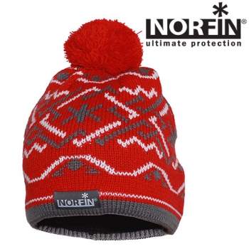 Шапка Norfin Women NORWAY RED р.M