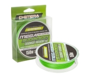 Плетеный шнур Chimera Mega Strong X4 Bright Green 150м