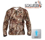 Футболка Norfin HUNTING ALDER LONG SLEEVE PASSION GREEN р.S