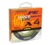 Плетеный шнур Kosadaka Super PE X4 Light Green 150м