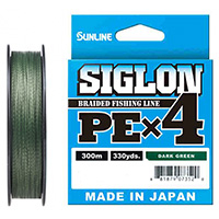 Sunline Siglon PE X4 300м Dark Green