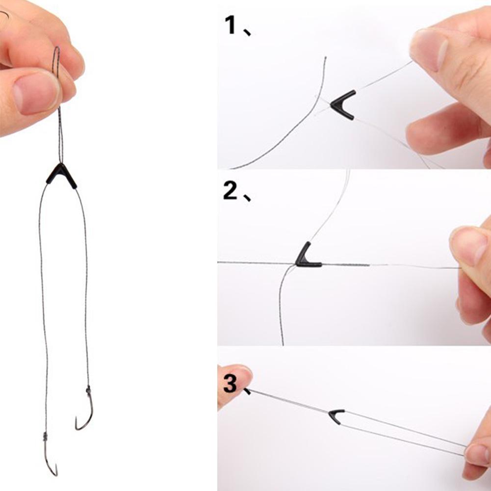 Как сделать 2 крючка на поплавочную удочку