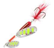 Вращающаяся блесна Sprut Kokoro Spinner 15,5гр цвет STR-1