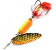 Вращающаяся блесна Sprut Oruto Spinner 7гр цвет GOBK
