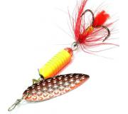 Вращающаяся блесна Sprut Oruto Spinner 9гр цвет SORBK