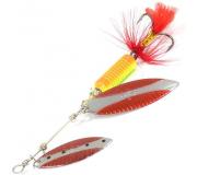 Вращающаяся блесна Sprut Oso Spinner 12гр цвет SRBK-SR