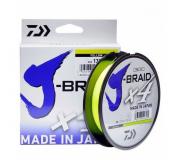 Плетеный шнур Daiwa J-Braid x4 135m 0,21mm Yellow