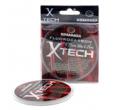 Леска флюорокарбоновая Kosadaka X-TECH 30м 0,14мм