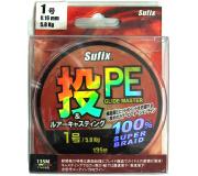 Плетеный шнур Sufix PE Glide Master Multicolor 135м 0,16мм