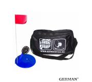 Жерлицы синии German неоснащенные в большой черной сумке 10 шт