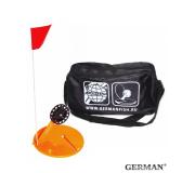 Жерлицы оранжевые German неоснащенные в большой черной сумке 10 шт